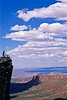 Utah - Mountain bikers above Fisher Towers near Castle Valley - 34 - 72 ppi