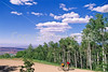 Utah - Mountain bikers above Fisher Towers near Castle Valley - 18 - 72 ppi