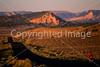 Cyclist at dusk on Utah 12 near Bryce Canyon Nat'l Park - 2 - 72 ppi