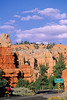 Touring cyclist in Red Canyon near Bryce Canyon Nat'l Park - 2 - 72 ppi