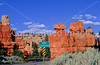 Touring cyclist in Red Canyon near Bryce Canyon Nat'l Park - 3 - 72 ppi