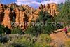 Mountain biker in Casto Canyon near Bryce Canyon Nat'l Park, Utah - 8 - 72 ppi