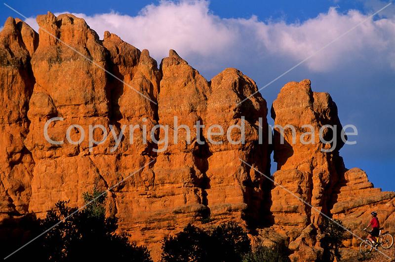 Mountain biker in Casto Canyon near Bryce Canyon Nat'l Park, Utah - 12 - 72 ppi