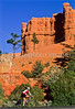 Cyclist(s) in Red Canyon near Bryce Canyon Nat'l Park, Utah - 2a - 72 ppi