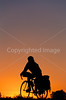 Cyclist at dusk on Utah 12 near Bryce Canyon Nat'l Park - 3 - 72 ppi