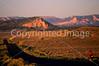 Cyclist at dusk on Utah 12 near Bryce Canyon Nat'l Park - 1 - 72 ppi