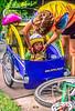 Mother with child in bike trailer - Liberty Park, Salt Lake City, Utah - 11-2 - 72 ppi