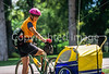 Mother with child in bike trailer - Liberty Park, Salt Lake City, Utah - 5-2 - 72 ppi
