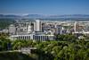 The city skyline of Salt Lake City, Utah, USA.