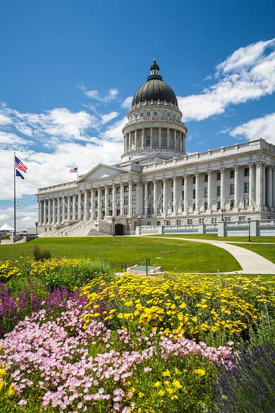 The Utah State Capitol building in Salt Lake City, Utah, USA.