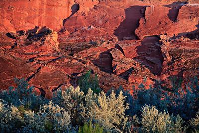 Last light on the Navajo Sandstone - Gold Mine Camp