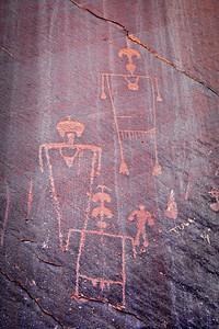 Desecration Panel - untouched Petroglyphs San Juan River