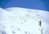 SN ut wstc 18 - ORps - Backpacker on snowshoes in Utah's Wasatch Mountains near Salt Lake City, Utah - 72 ppi