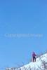 SN ut wstc 30 - ORps - Snowshoer in Utah's Wasatch Mountains near Salt Lake City, Utah - 72 ppi