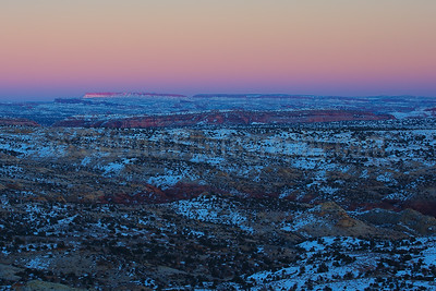 Grand-Staircase Escalante NM at Sunset