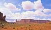 Mountain biker in Monument Valley Navajo Tribal Park on Utah-Arizona border - 3 - 72 ppi