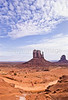 Mountain biker in Monument Valley Navajo Tribal Park on Utah-Arizona border - 6 - 72 ppi