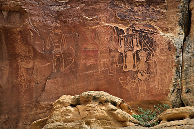The Three Kings panel  McConkie Ranch, Dry Fork Canyon, Utah