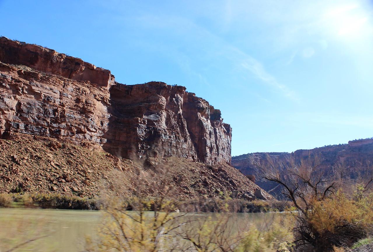 Cliffs along the Colorado River