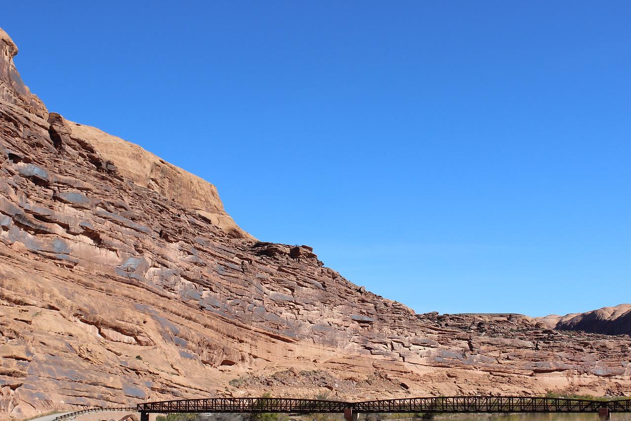 Mountain Bike Bridge across the Colorado River