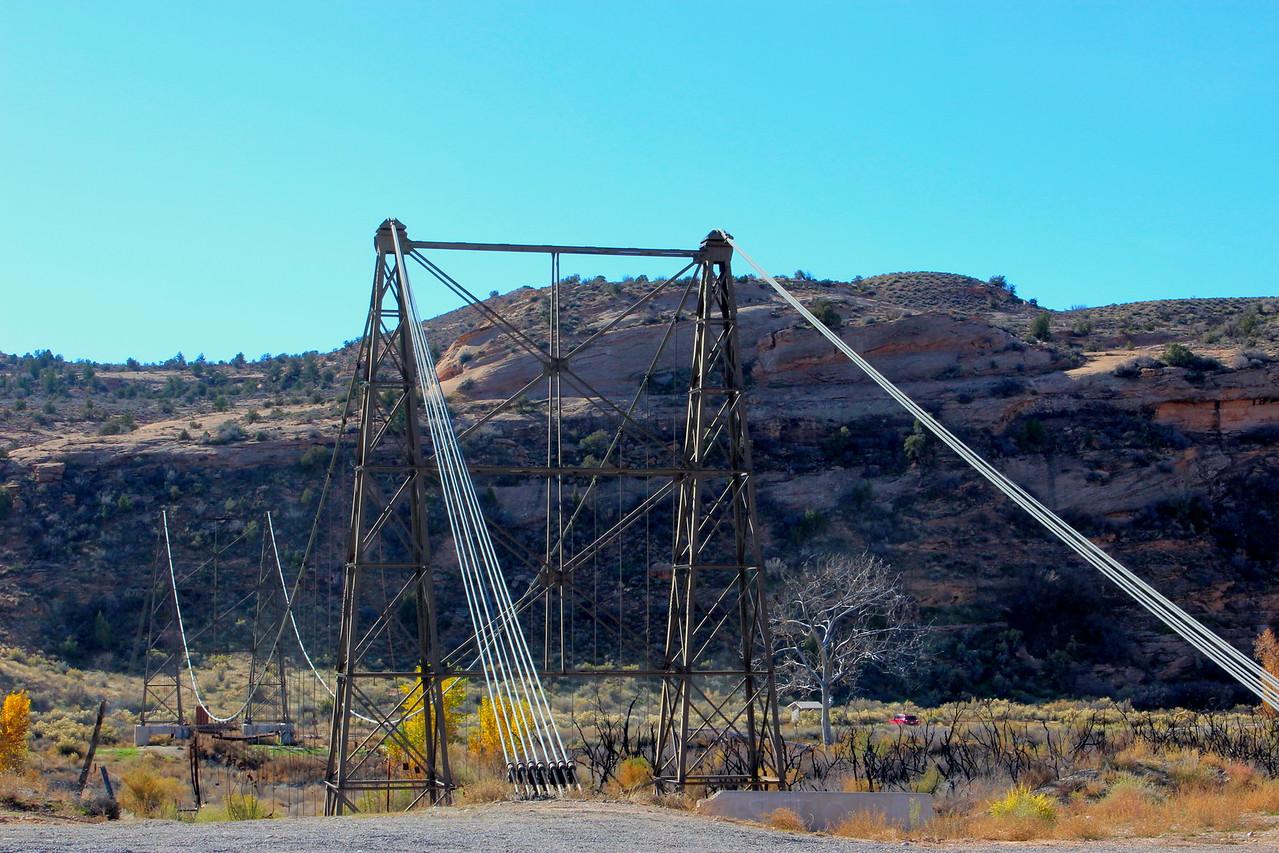 Historic Dewey Suspension Bridge Structure