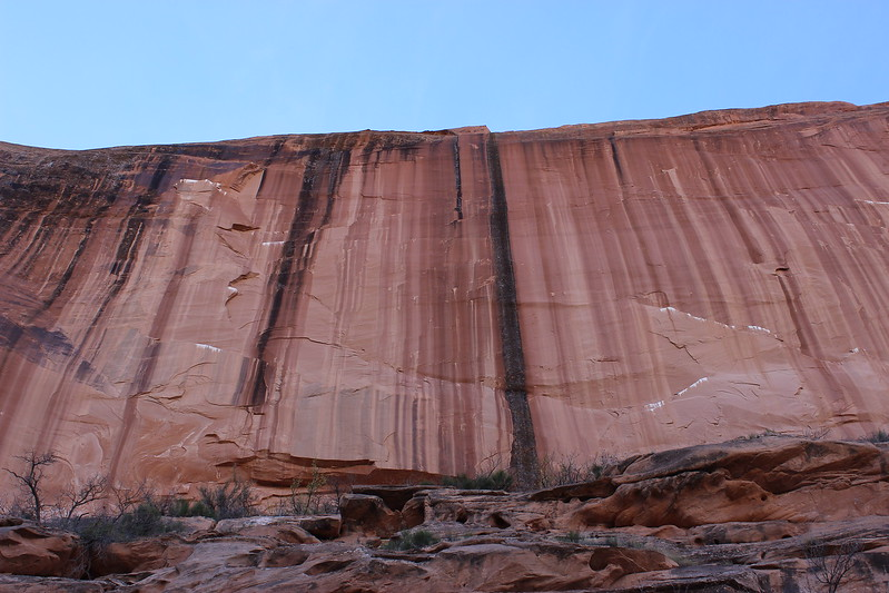 Sheer Sandstone Wall