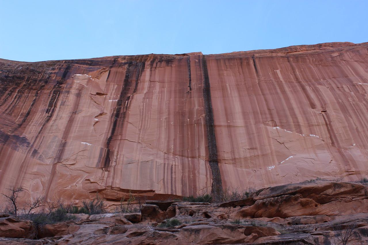 Sheer Sandstone Wall