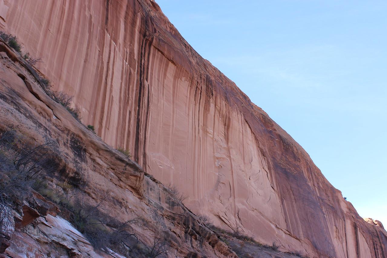 Sheer Wall of Sandstone