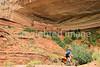 Biker at 16 House Ruin on Navajo Res  near Bluff, Utah - 21 - 72 ppi