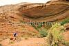 Biker at 16 House Ruin on Navajo Res  near Bluff, Utah - 32 - 72 ppi
