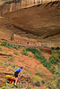 Biker at 16 House Ruin on Navajo Res  near Bluff, Utah - 35 - 72 ppi