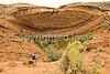 Biker at 16 House Ruin on Navajo Res  near Bluff, Utah - 28 - 72 ppi