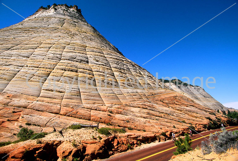 Cyclists in Zion National Park, Utah - B ut zion 1c
