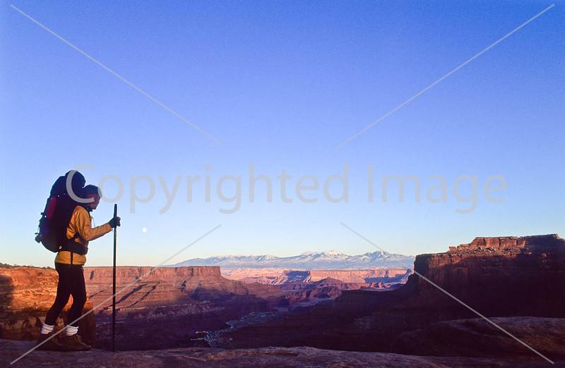 Hiker in Canyonlands National Park, Utah - 20 - 72 ppi