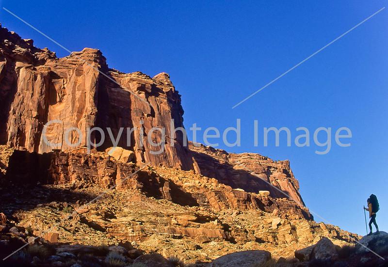 Hiker in Canyonlands National Park, Utah - 14 - 72 ppi