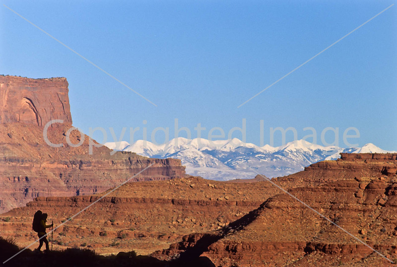Hiker in Canyonlands National Park, Utah - 13 - 72 ppi