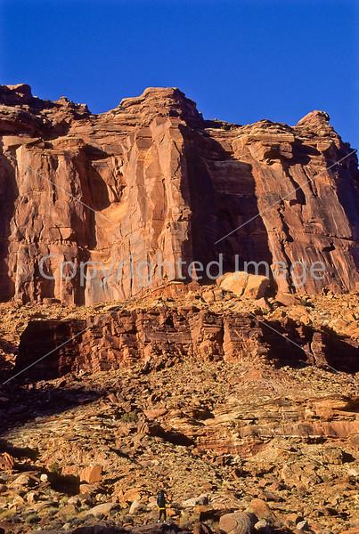 Hiker in Canyonlands National Park, Utah - 15 - 72 ppi