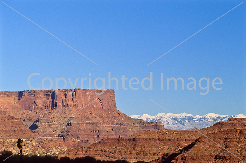 Hiker in Canyonlands National Park, Utah - 19 - 72 ppi