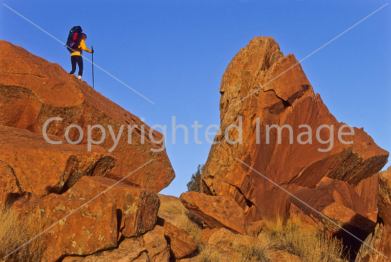 Hiker in Canyonlands National Park, Utah - 24 - 72 ppi