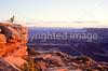 Mountain biker at Dead Horse Point State Park, Utah - 5 - 72 ppi