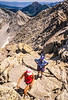 Hiker(s) on route to Lone Peak in Wasatch Mountains near Salt Lake -6 - 72 ppi