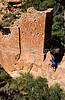 Hiker at Hovenweep National Monument on Utah-Colorado border - 18 - 72 ppi