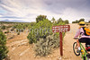 Biker at Hovenweep National Monument on Utah-Colorado border - 6 - 72 ppi