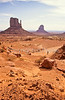 Mountain biker in Monument Valley Navajo Tribal Park on Utah-Arizona border - 7 - 72 ppi