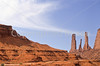 Mountain biker in Monument Valley Navajo Tribal Park on Utah-Arizona border - 2 - 72 ppi