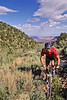Utah - Mountain bikers above Fisher Towers near Castle Valley - 19 - 72 ppi