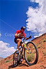 Utah - Mountain bikers above Fisher Towers near Castle Valley - 11 - 72 ppi