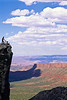 Utah - Mountain bikers above Fisher Towers near Castle Valley - 24 - 72 ppi