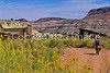 Mountain biker; Old West Paria movie set in Utah -20 - 72 ppi