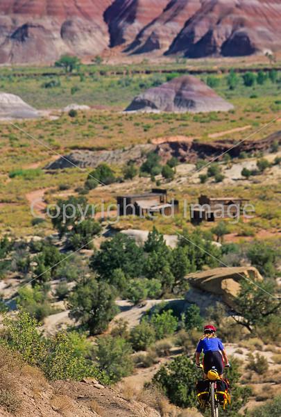 Mountain biker; Old West Paria movie set in Utah -10 - 72 ppi